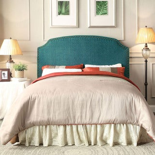 Furniture of America Emira Adjustable King-size Flax Upholstered Headboard