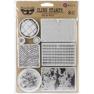 Finnabair Cling Stamps 6inX7.5inNet & Wire