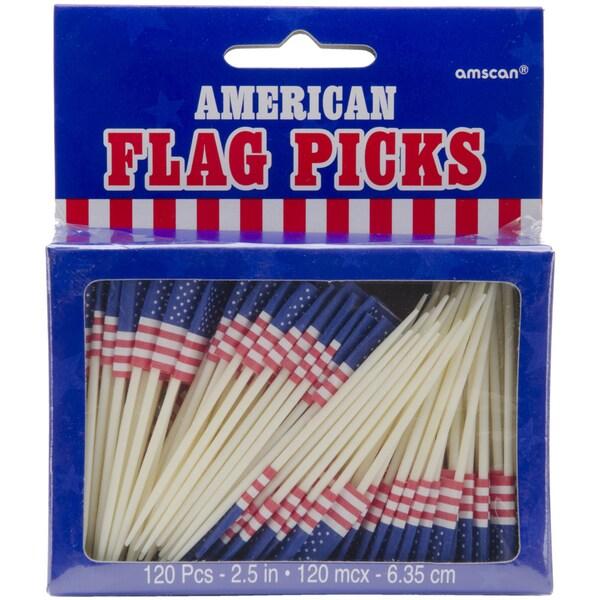 Flag Picks 2.5in 144/PkgAmerican