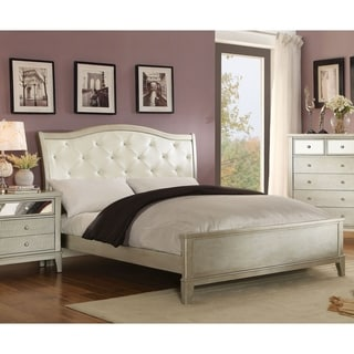 Furniture of America Divenna Modern Crocodile Silver Platform Bed