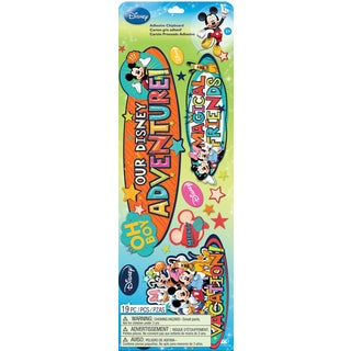 Disney Adhesive ChipboardMickey Family Titles