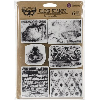 Finnabair Cling Stamps 6inX7.5inDirty Walls