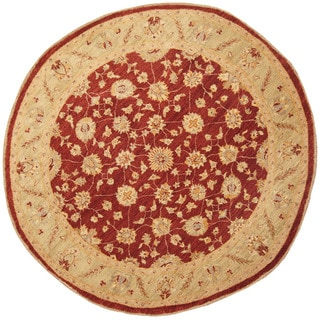 Herat Oriental Afghan Hand-knotted Vegetable Dye Oushak Wool Round Rug (7'1 x 7'1)
