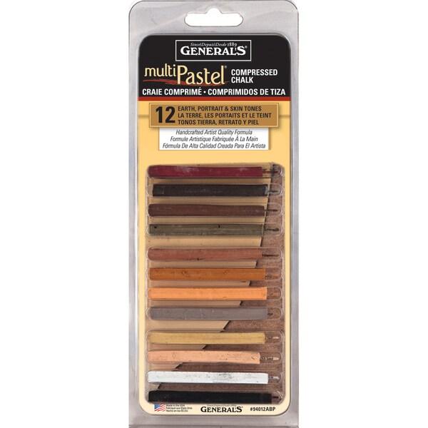 Multipastel Compressed Chalk Sticks 12//pkg-earth Portrait /& Skin Tones