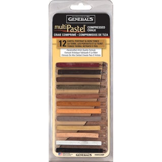 MultiPastel Compressed Chalk Sticks 12/PkgEarth, Portrait & Skin Tones