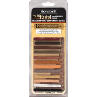 MultiPastel Compressed Chalk Sticks 12/PkgEarth, Portrait & Skin Tones