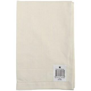 Cotton/Linen Blend Hand Towel 17inX27inCream