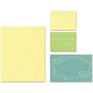 Sizzix Textured Impressions A2 Embossing Folders 4/PkgButterfly Migration