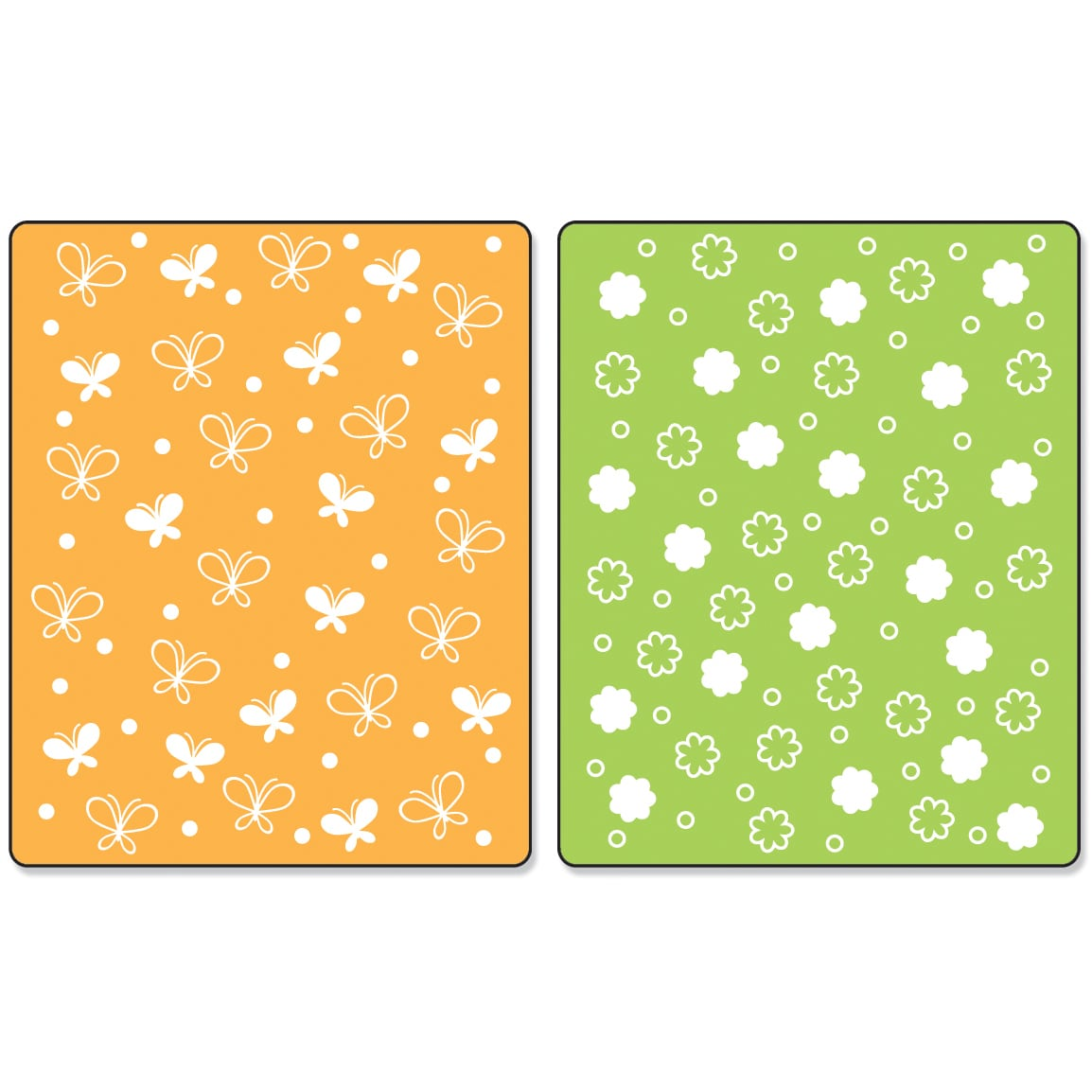 Sizzix Textured Impressions A2 Embossing Folders 2/PkgBut...