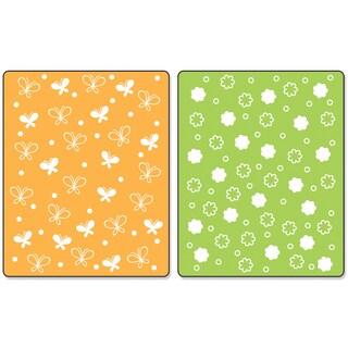 Sizzix Textured Impressions A2 Embossing Folders 2/PkgButterflies & Flowers