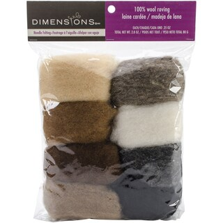 Feltworks Roving Value Pack 2.8ozEarth Tone