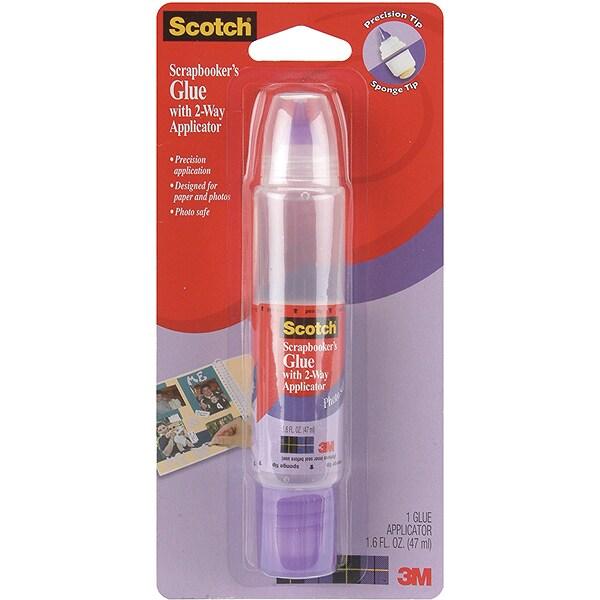 3M Scotch Scrapbooker's 2Way Glue1.6oz (1.6oz), Clear
