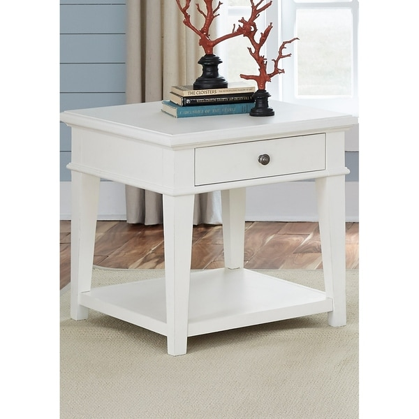 Shop Harbor View White End Table On Sale Free Shipping Today