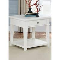 Harbor View White End Table