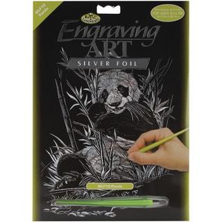Silver Foil Engraving Art Kit 8inX10inPanda