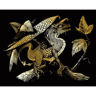 Gold Foil Engraving Art Kit 8inX10inBaby Dragon