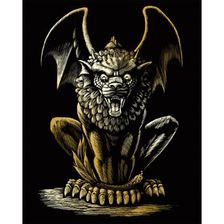 Gold Foil Engraving Art Kit 8inX10inLion Gargoyle