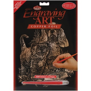 Copper Foil Engraving Art Kit 8inX10inKitten & Puppy