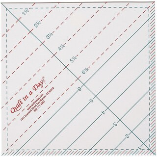 Quilt In A Day Triangle Square Up Ruler61/2inX61/2in