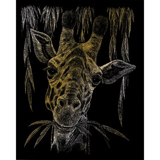 Gold Foil Engraving Art Kit 8inX10inGiraffe