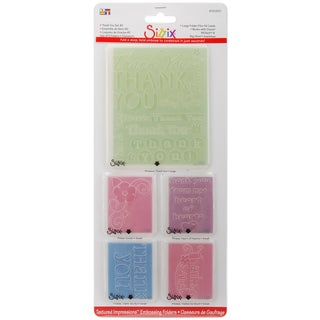 Sizzix Textured Impressions A2 Embossing Folders 5/PkgThank You #2