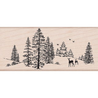 Hero Arts Mounted Rubber Stamps 2.25inX5inWinter Scene