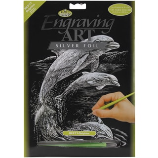 Silver Foil Engraving Art Kit 8inX10inDolphins