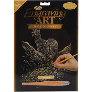 Gold Foil Engraving Art Kit 8inX10inDeer