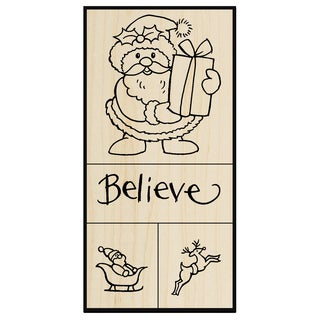 Stampendous Mounted Rubber Stamp Set 5inX2.75inSanta Believe