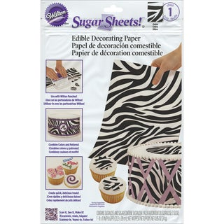 Sugar Sheet 8inX11in 1/PkginZebra Print