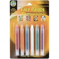 Face Paint PushUp Crayons 6/PkgPearl