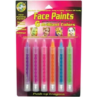 Face Paint PushUp Crayons 6/PkgBrilliant
