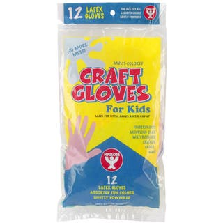 Kids Craft Gloves 12/PkgAssorted Colors|https://ak1.ostkcdn.com/images/products/10571502/P17648415.jpg?impolicy=medium