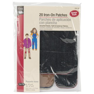 IronOn Repair Patches 20/PkgDark Assortment