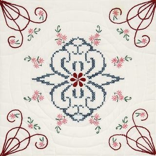 Stamped Quilt Blocks 18inX18in 6/PkgInterlock Delight