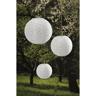 Lace Look Paper Lanterns 3/PkgWhite 6in, 8in And 10in