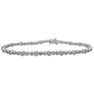 Plutus Brands Sterling Silver High Polish Cubic Zirconia Bracelet