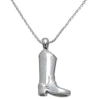 Plutus High Polish Sterling Silver Boot Pendant