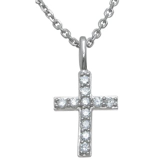 Plutus Sterling Silver Cross Cubic Zirconia Pendant