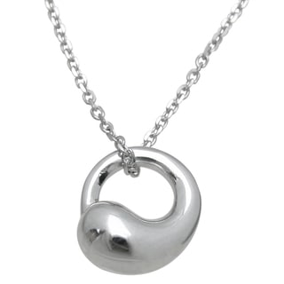 Plutus High Polish Sterling Silver Open Circle Bold Pendant
