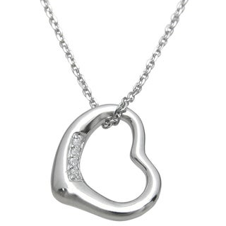 Plutus Sterling Silver Cubic Zirconia Heart Pendant
