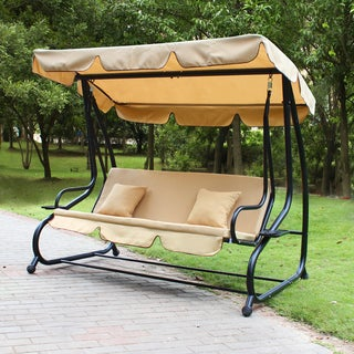 Adeco Canopy Awning Porch Swings Bench