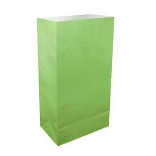 Flame Resistant Luminaria Bags- Green (100 Count)