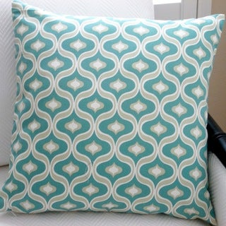Artisan Pillows Indoor 20-inch Modern Geometric in Teal Accent Throw Pillow Cover
