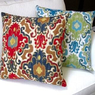 Artisan Pillows Indoor 20-inch Toroli Jewel or Aqua Venetian Style Antique Throw Pillow