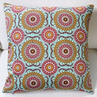 Artisan Pillows Indoor 20-inch Doily in Mint Modern Geometric Circles Throw Pillow