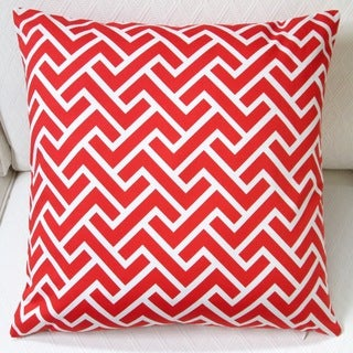 Artisan Pillows Indoor 20-inch ZigZag in Coral Orange Throw Pillow Cover