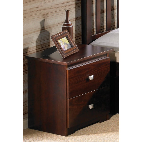 Shop Donco Kids Two Drawer Nightstand In Dark Cappuccino