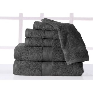Supersoft Plush 6-piece Luxury Low Twist Cotton Bath Towel Set