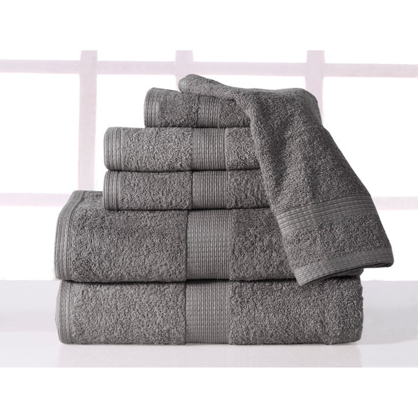 Supersoft Plush 6 Piece Luxury Low Twist Cotton Bath Towel